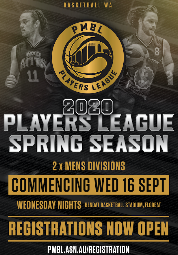 2020 Players League Spring Season Registrations – NOW OPEN!!